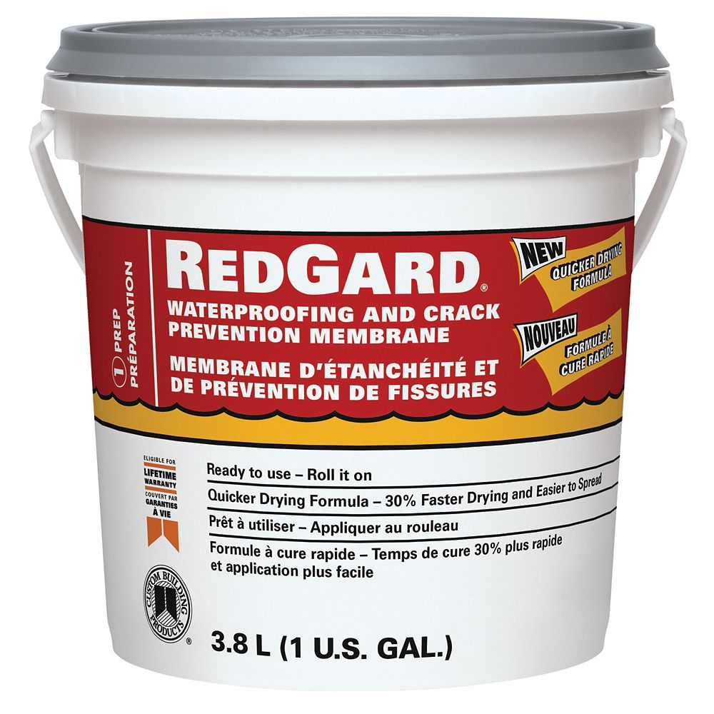 RedGard Waterproofing and Crack Prevention Membrane - Gallon