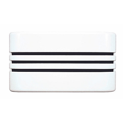 Wired Door Chime With White Decorative Linear Cover