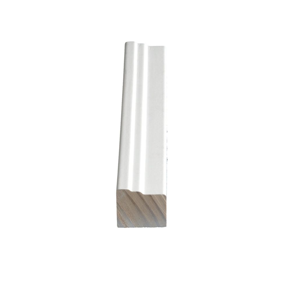 Primed Finger Jointed Pine Brick Moulding 1-1/4 In. x 1-1/2 In. (Price per linear foot)