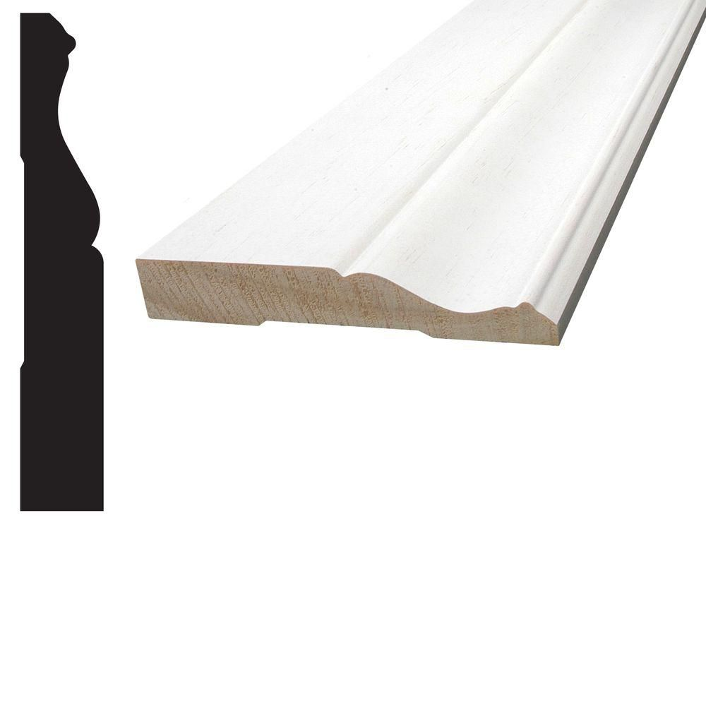 Primed Finger Jointed Pine Colonial Base 11/16 In. x 4-1/8 In. (Price per linear foot)