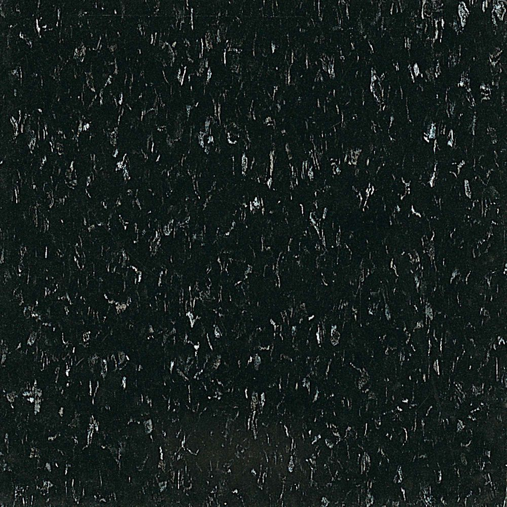 Imperial Texture 12-inch x 12-inch Vinyl Tiles in Classic Black (45 sq. ft./case)
