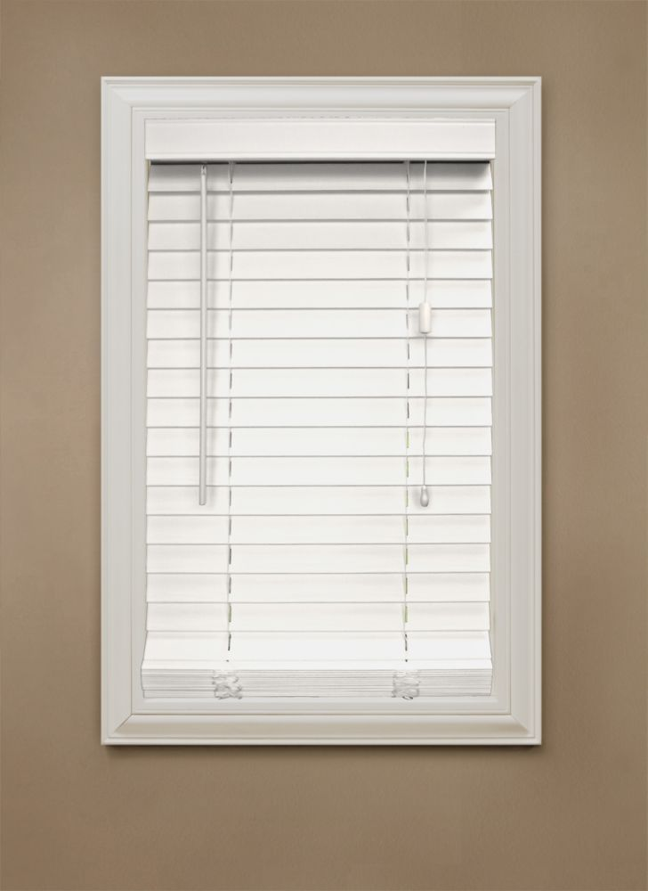 Home Decorators Collection 2 Inch Faux Wood Blind White