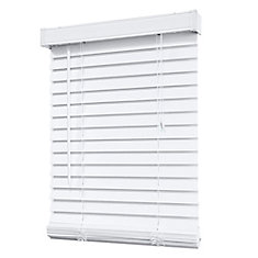home decorators collection 2 inch faux wood blind, white - 72 inch