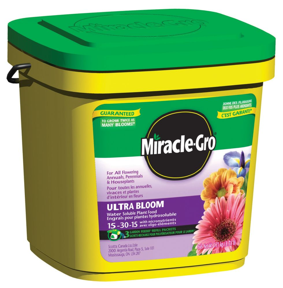 Miracle Gro Miracle Gro Water Soluble Ultra Bloom Plant Food Kg The Home Depot Canada