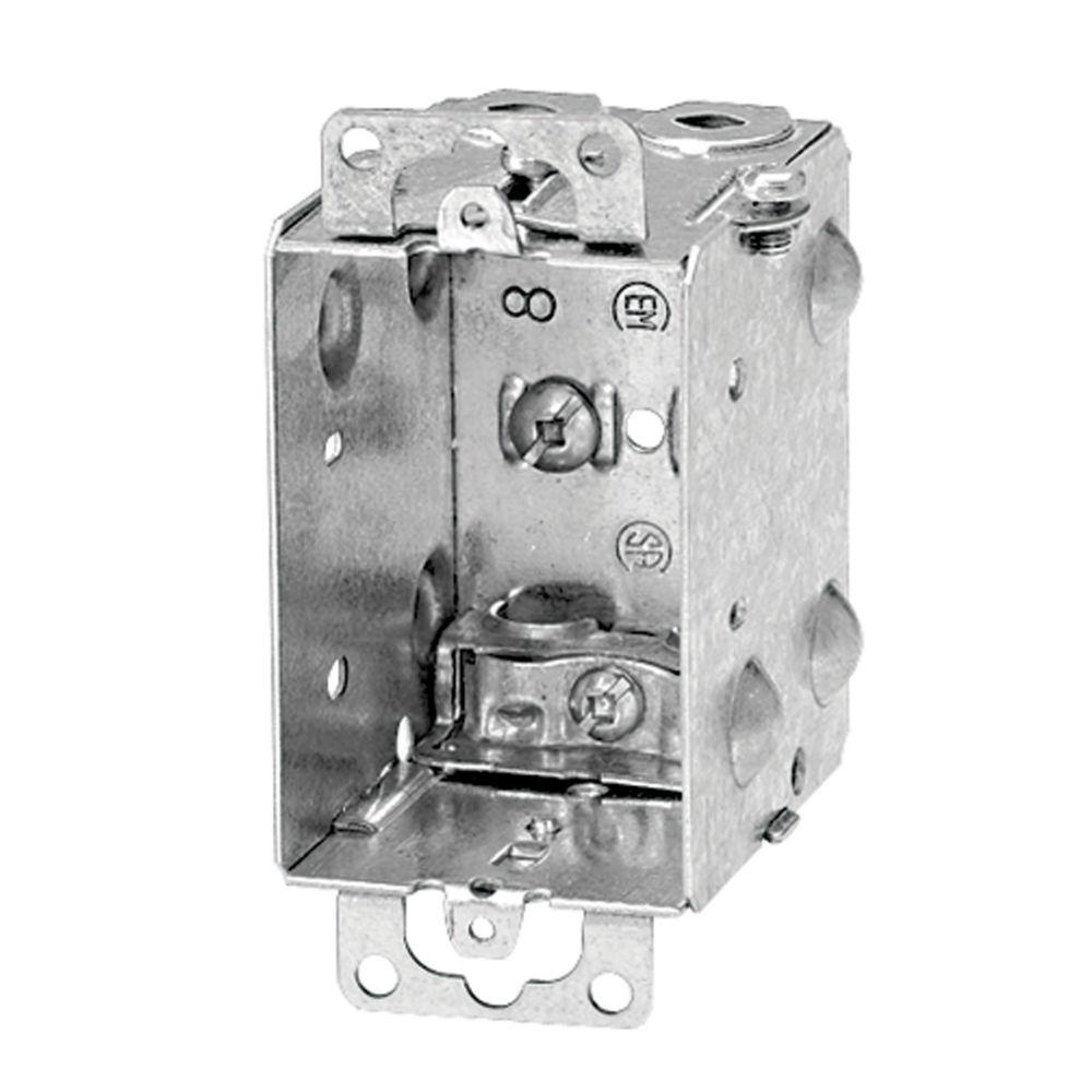 Boîte Pour Appareil En Acier Avec Serre-Câble AC90 � 2-1/2 Pouce