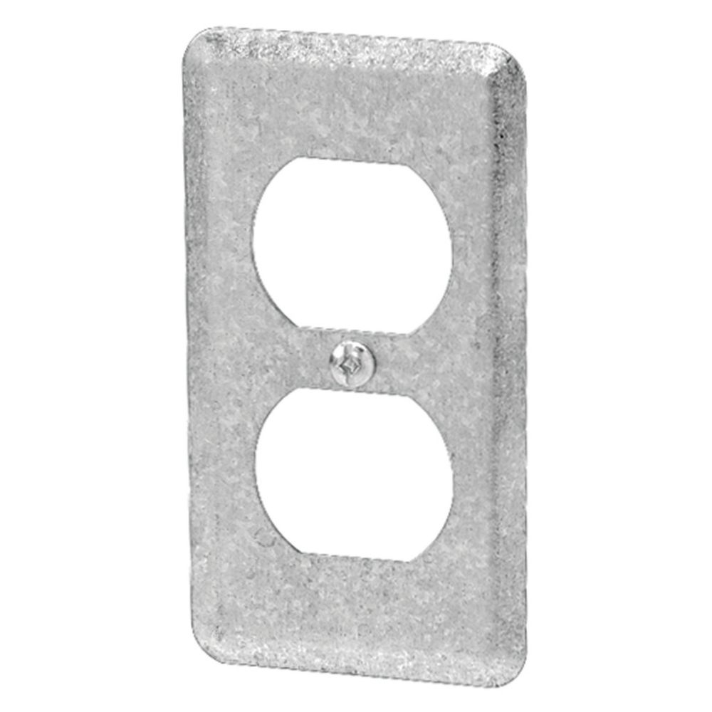 One Gang Duplex Receptacle Cover - Steel Utility Box