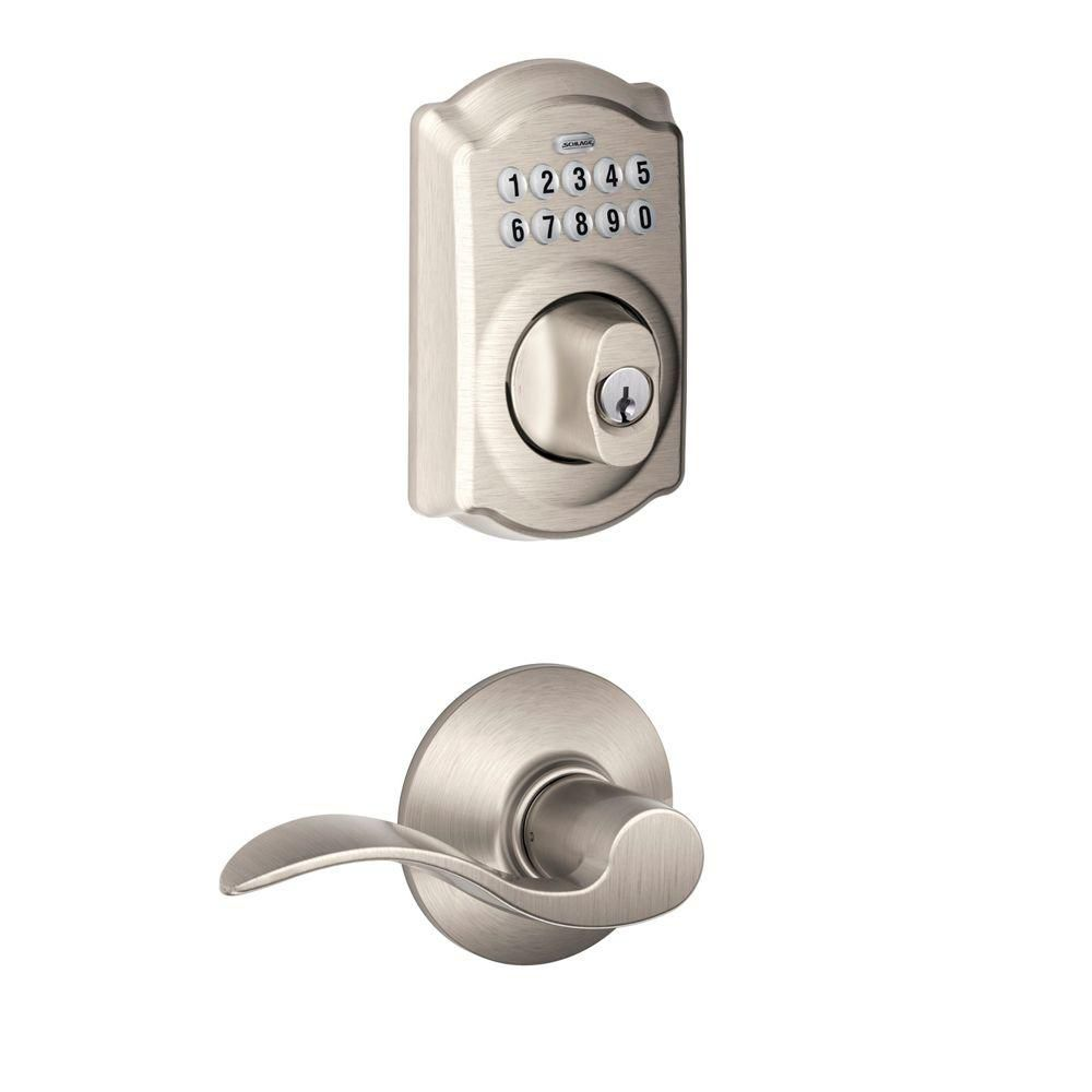 Camelot Satin Nickel Electronic Combo Pack