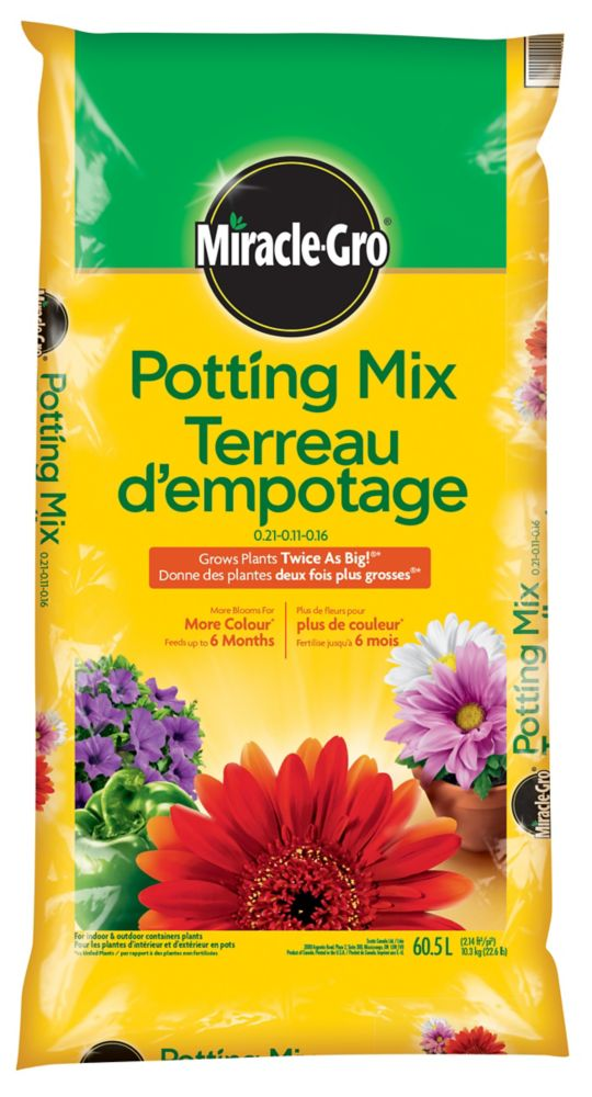 Miracle Gro Miracle Gro Premium Potting Mix 60 5 Litre The Home Depot Canada