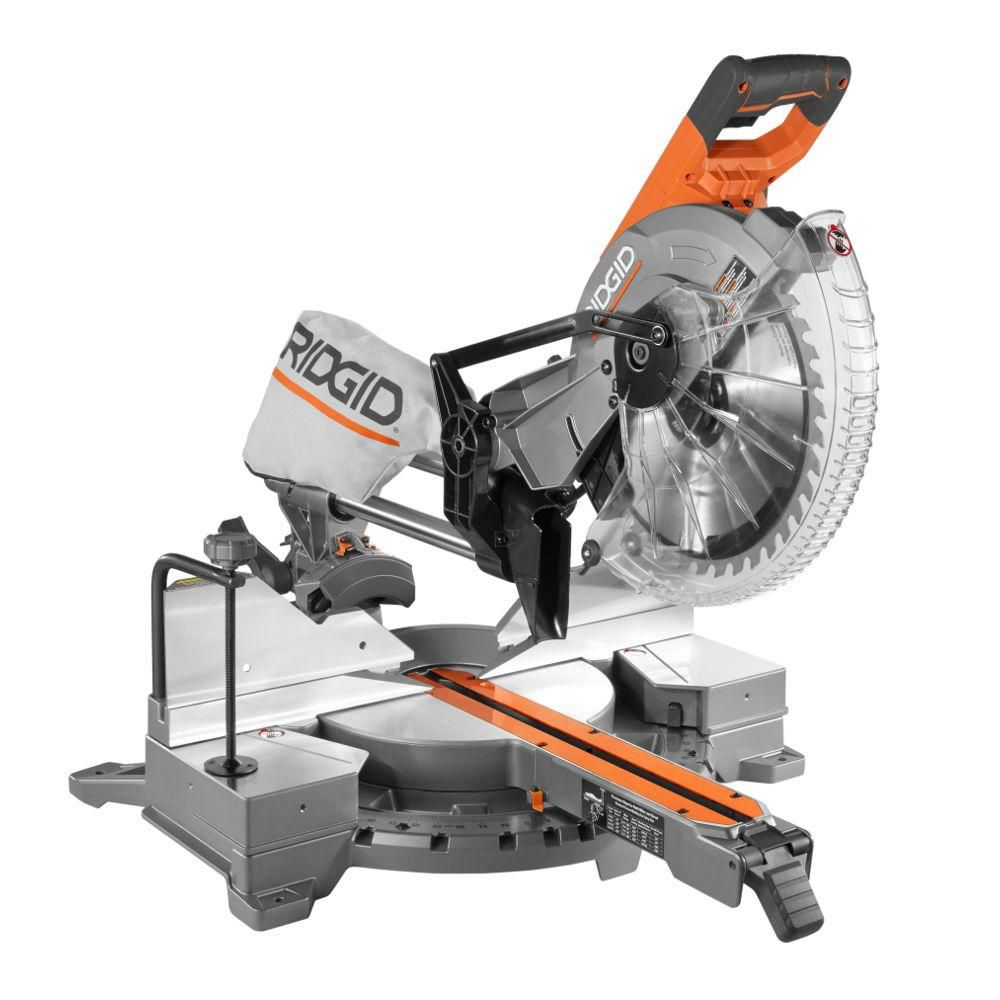 12-inch Sliding Compound Miter Saw with Adjustable Laser - Free Stand