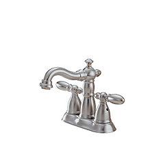 Victorian Centreset Bathroom Faucet in Stainless Steel Finish