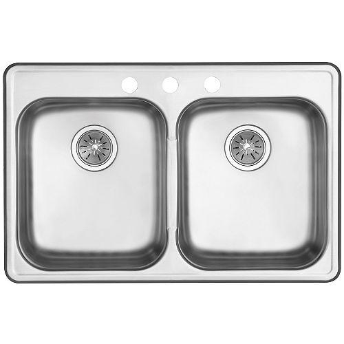 Elkay Signature Drop in Two Bowl Stainless Steel Sink