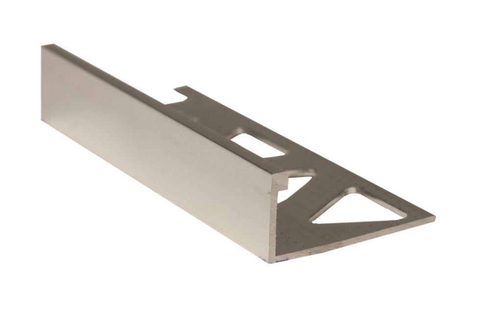 Ceramic Aluminum Tile Edge, Bright Clear - 1/2 Inch (12mm)