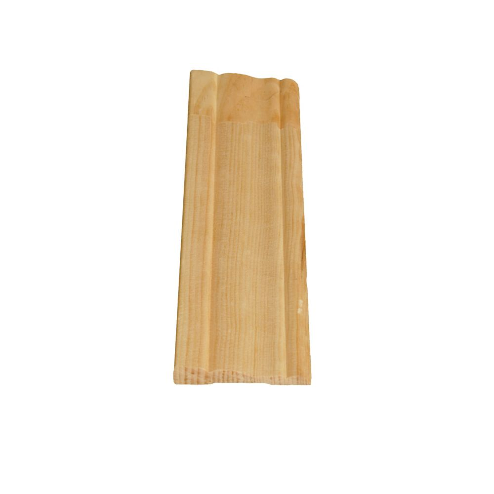 Alexandria Moulding Finger Jointed Pine Colonial Casing 3/8 In. x 2-1/8 In. x 8 Ft.