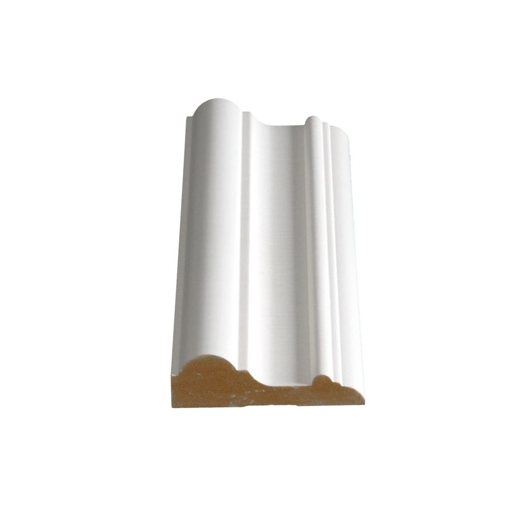 Alexandria Moulding Primed Fibreboard Chair Rail 1 In. X 3