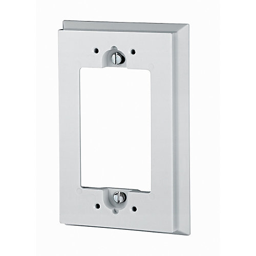 Shallow Wall Box Extender for GFCI, White