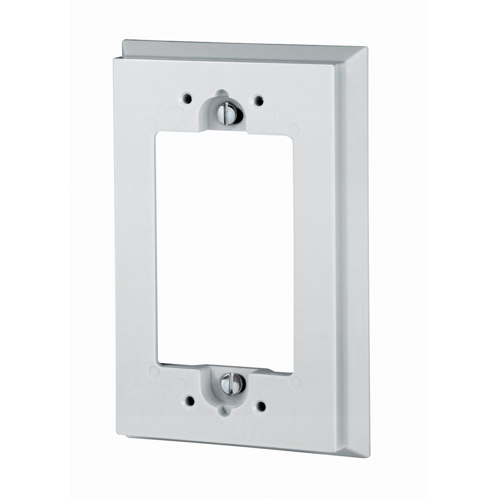 Shallow Wallbox Extender for GFCI, White