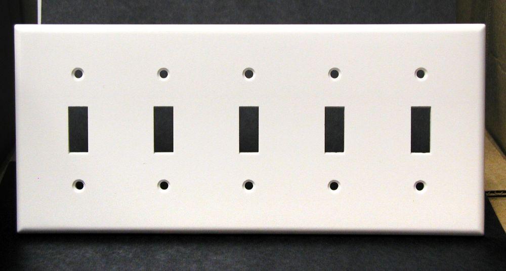 Plaque Pour Cinq Dispositifs À Bascule, Blanc