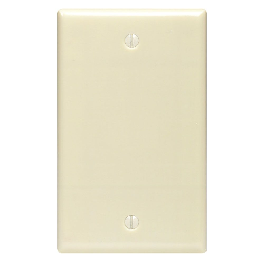 No Device Single Gang Blank Wallplate, Ivory