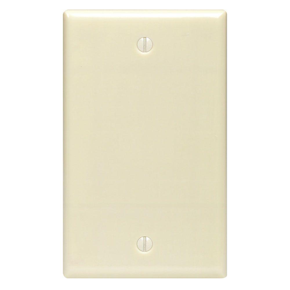 No Device Single Gang Blank Wallplate, Ivory