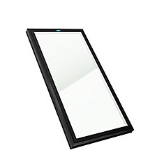 2 ft. x 4 ft. Fixed Curb Mount LoE3 Clear Glass Skylight with Black Frame