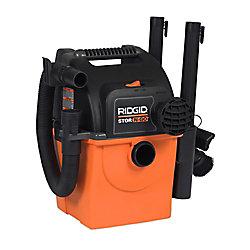 Aspirateur sec/humide de Stor-N-Go 19 litres (5 gal), 5 HP crête, portatif et à fixation murale