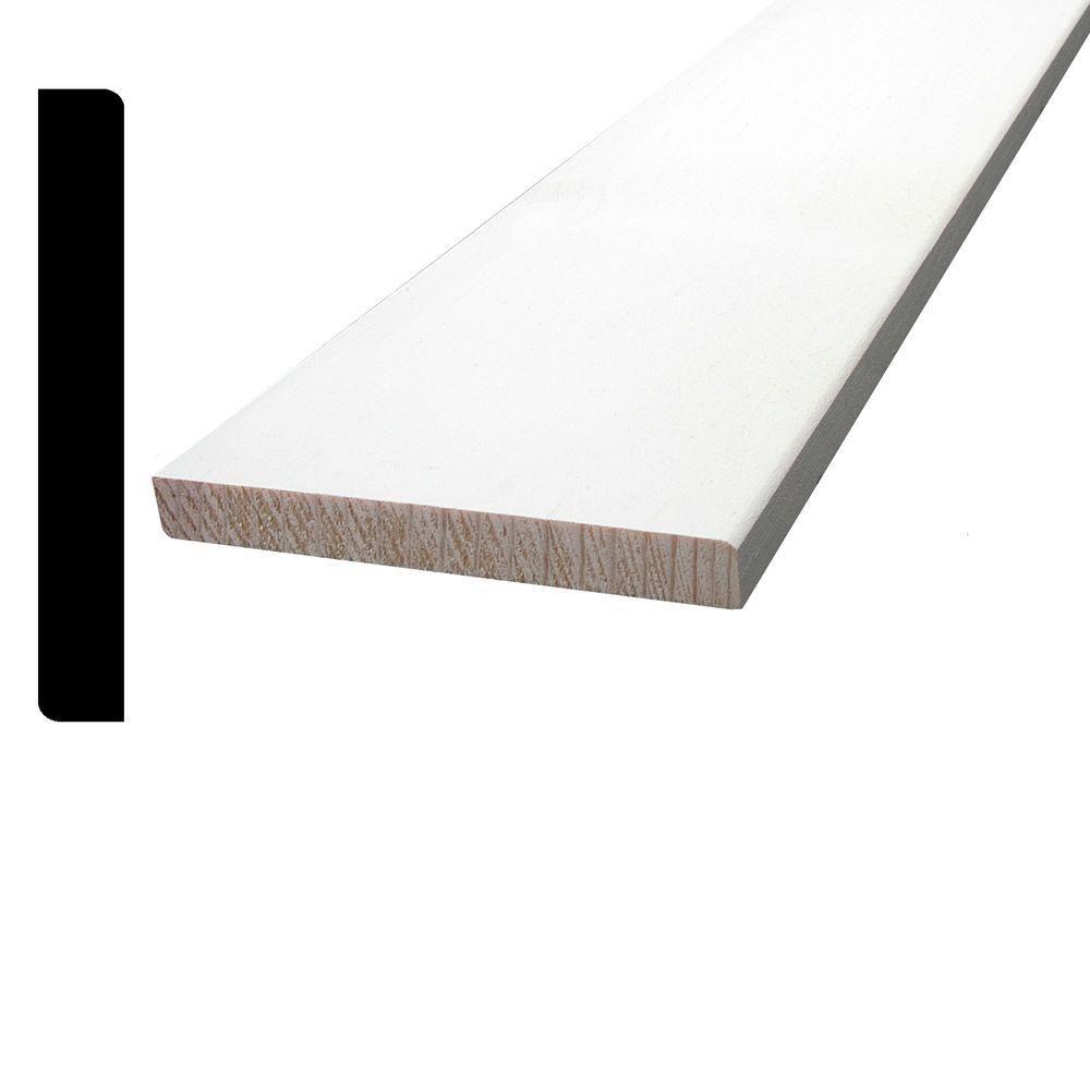 Plinthe apprêtée et jointée, en pin - 7/16 x 3 1/4 (Prix par pied)