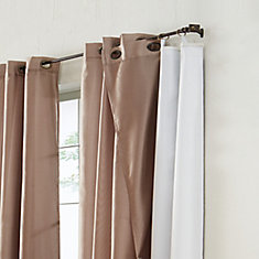 Blackout Curtain Liner, White, 45X77