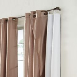 HDC 100% Blackout Curtain Liner Universal Hanging 45 inches width X 77 inches length, White