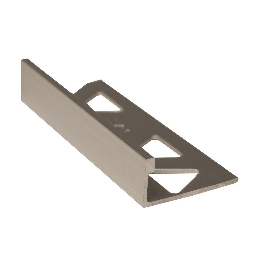 Ceramic Aluminum Tile Edge, Satin Clear - 1/2 Inch (12mm)