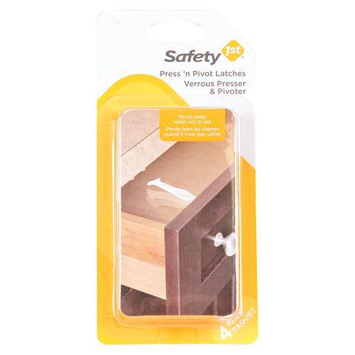 Safety 1st Press N Pivot Latch - (4-Pack)