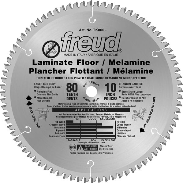 10 Inch Table Saw Blade For Laminate Flooring