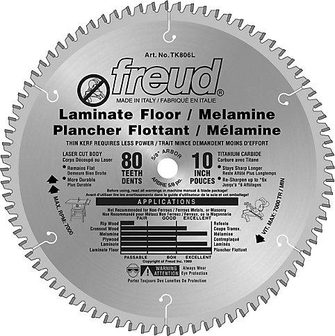 Freud 10 In Laminate Flooring Blade 80 Teeth The Home Depot Canada