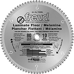 Freud Lame pour couvre-plancher stratifié  10 po - 80 dents