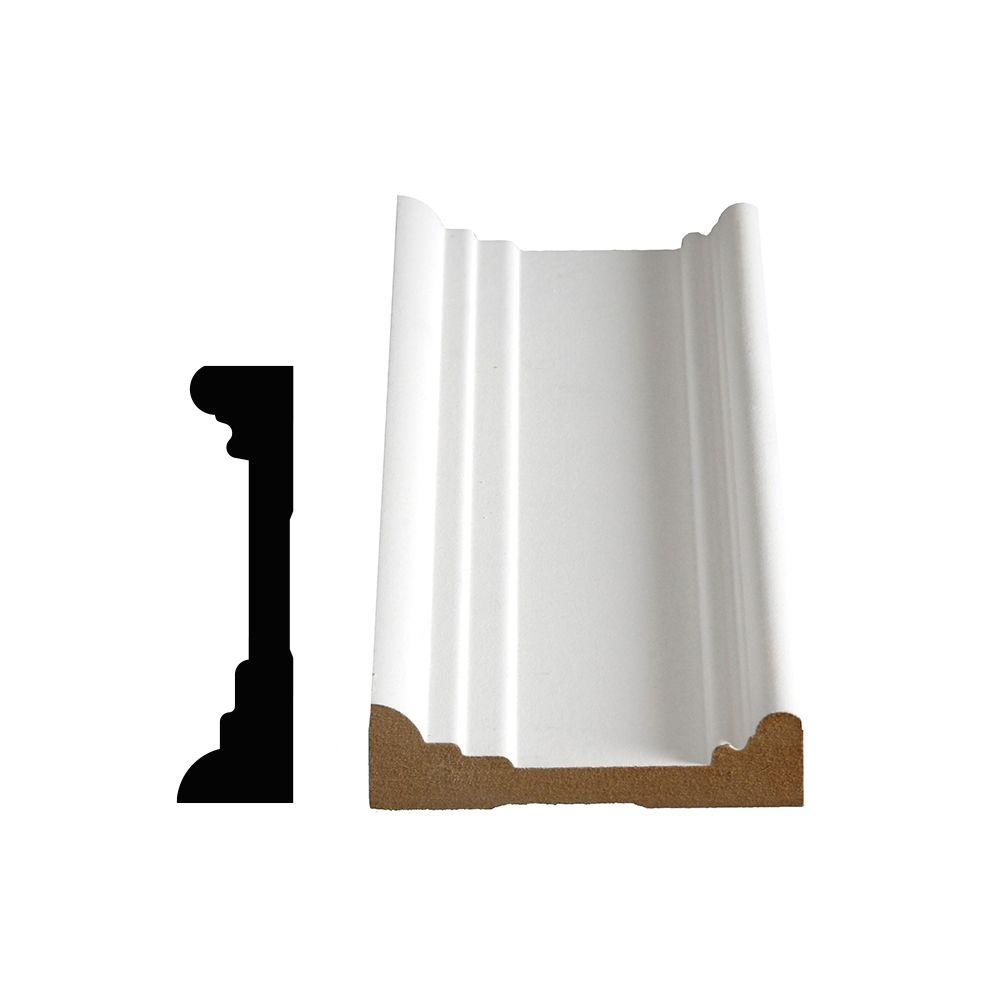Primed Fibreboard Architrave Casing 1 In. x 3-5/8 In. (Price per linear foot)