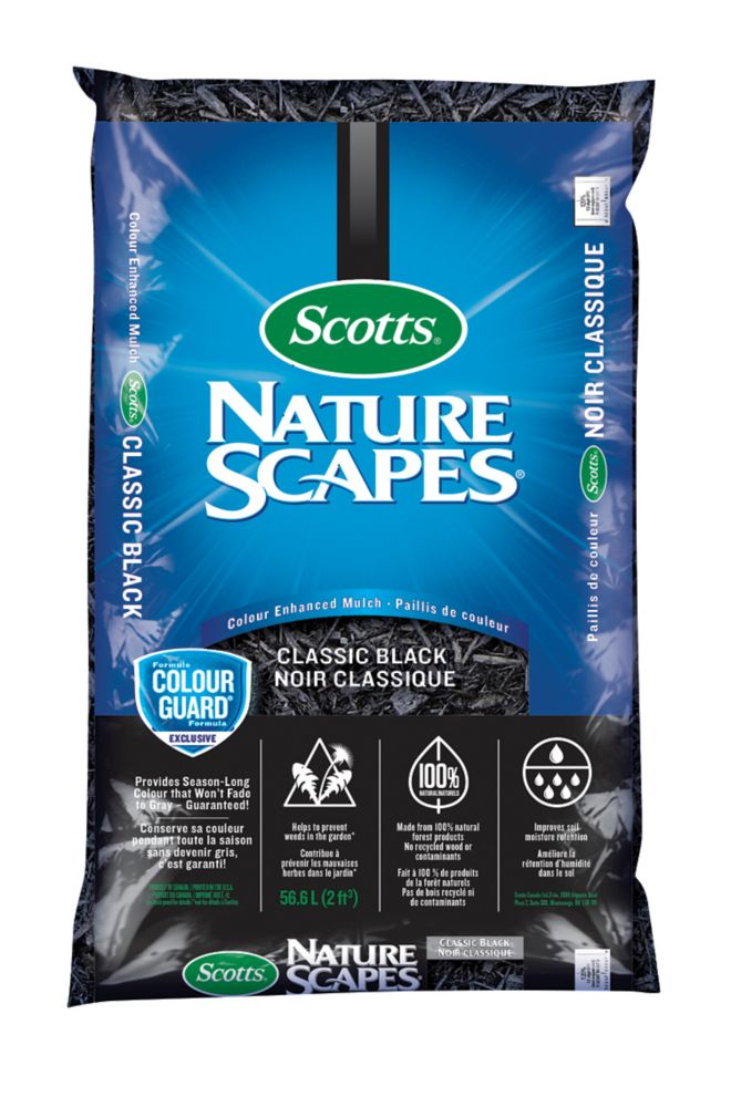 Nature Scapes Classic Black Mulch, 56.6 L