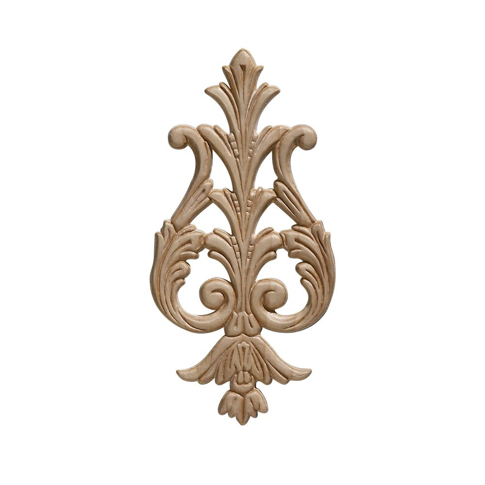Embossed Acanthus Drop Ornament 9-3/8 x 4-5/8 - 1 Piece Per Card