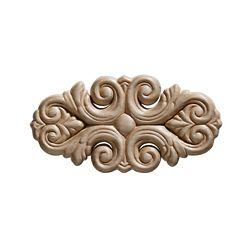 Ornamental Mouldings Arabesque en bois blanc, gaufré en acanthe 2-7/16 po x 9 po - 1 pièce par emballage