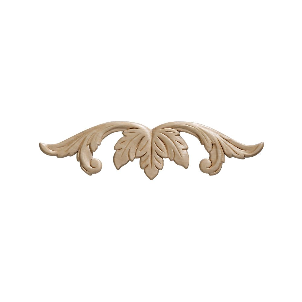 Embossed Acanthus Wood Ornament 2-7/16 x 9 - 1 Piece Per Card