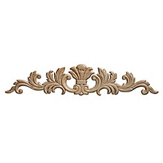 Embossed Acanthus Wood Ornament 3-1/2 x 16-11/16