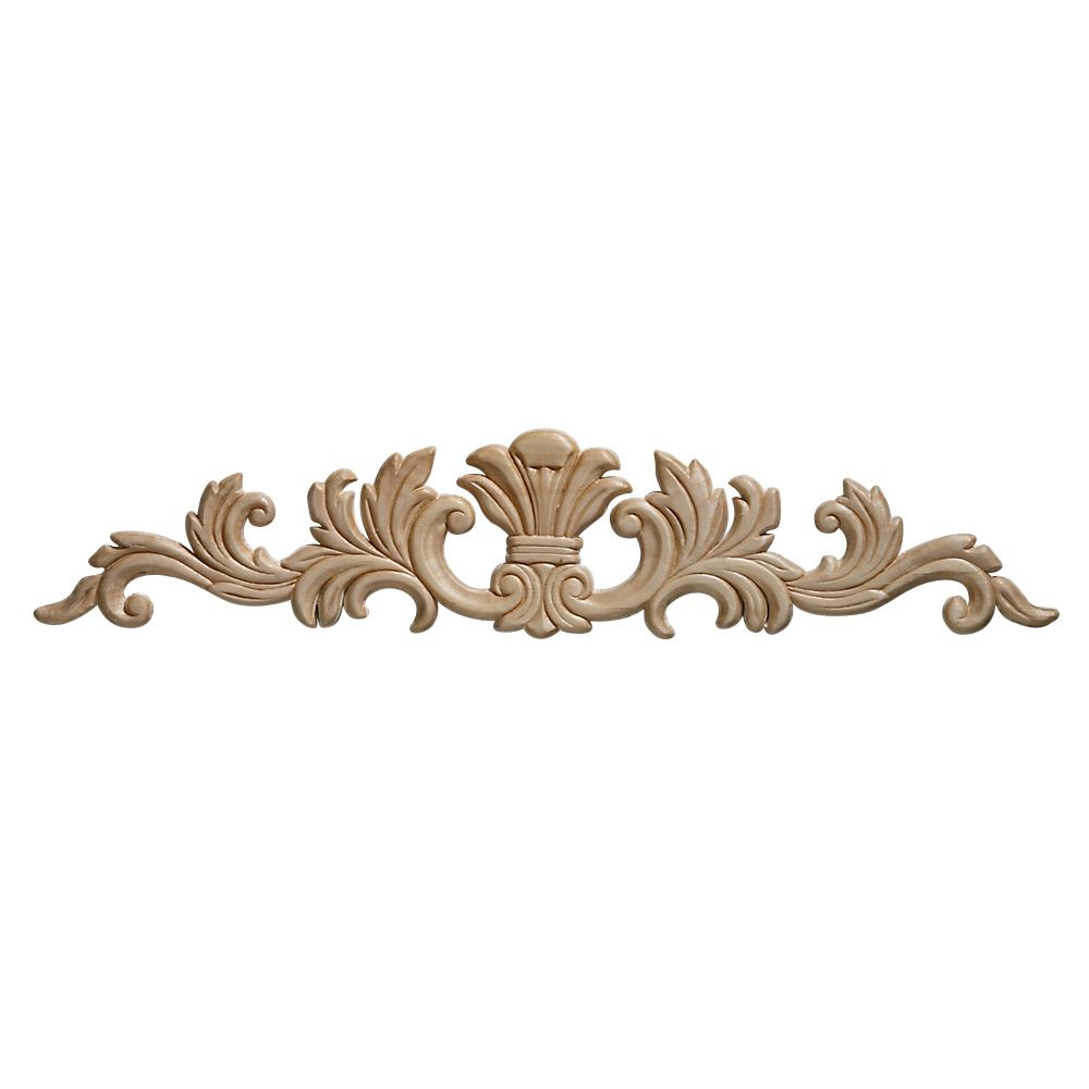 Embossed Acanthus Wood Ornament 3-1/2 x 16-11/16 - 1 Piece Per Card
