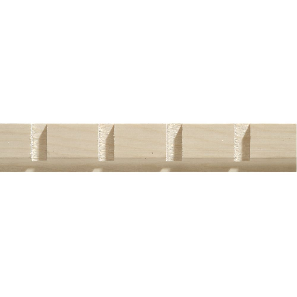 White hardwood dentil trim moulding 11 32 x 1 3 16 sold for Decor moulding