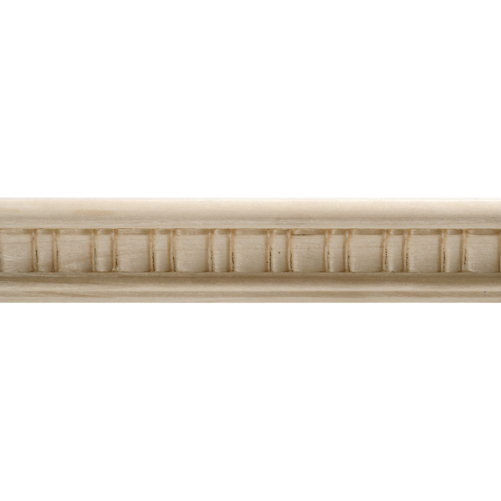 Ornamental mouldings moulure d corative en bois blanc dur gaufr e en festons 7 8 po x 1 1 2 po - Moulure bois decorative ...