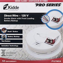 Kidde Hardwire Front Load Smoke Alarm with Hush Feature and Battery Back-up