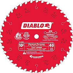 10 In. Diablo General Purpose Blade - 40 Teeth