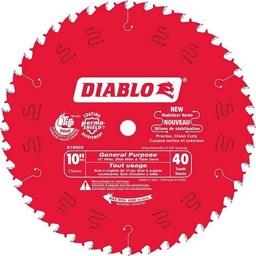 Freud 10 In. Diablo General Purpose Blade - 40 Teeth