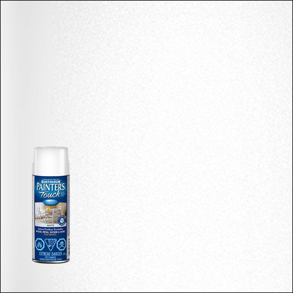 Rust-Oleum Painter's Touch Multi-Purpose Paint - Semi-Gloss White (340g Aerosol)