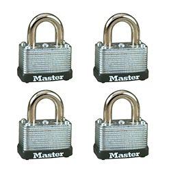 Master Lock Cadenas feuilleté 1 1/2 po - Emballage de 4