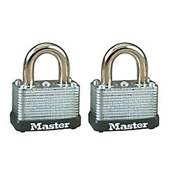Master Lock Cadenas bouterollé en acier laminé de 38 mm de large, lot de 2