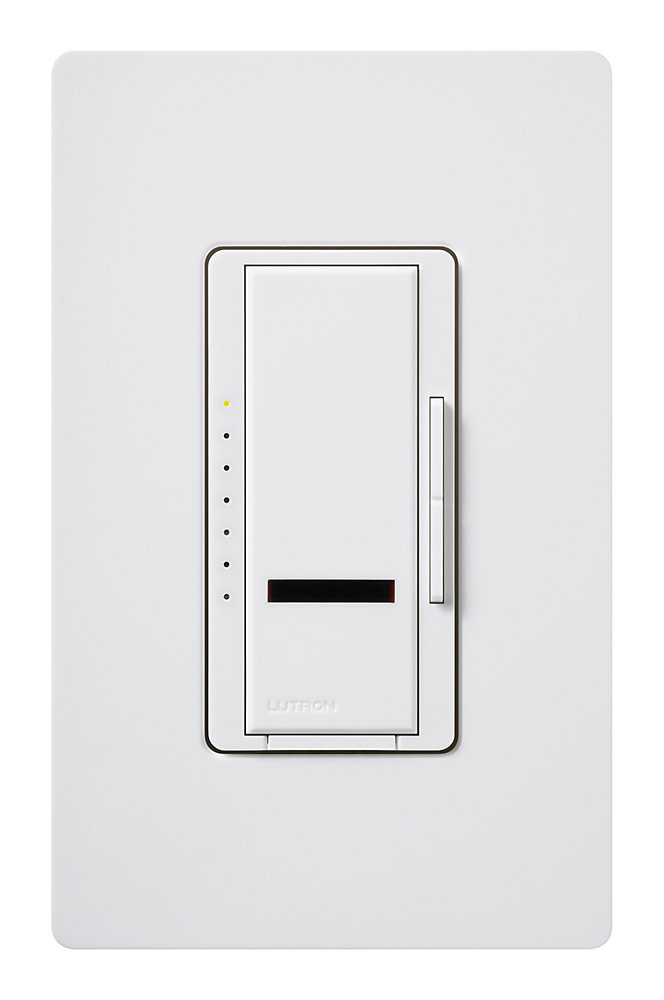 Maestro IR 600-Watt Single-Pole Dimmer with Remote Control, White