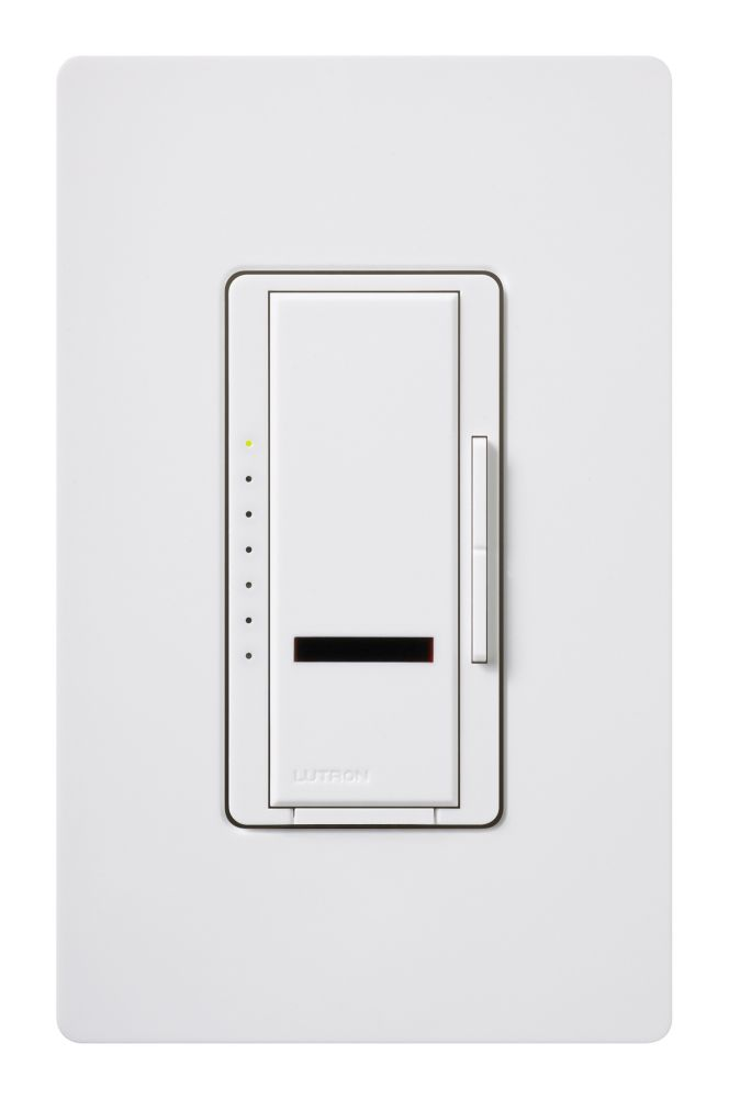 Lutron Maestro IR 600-Watt Single-Pole Dimmer with Remote Control, White